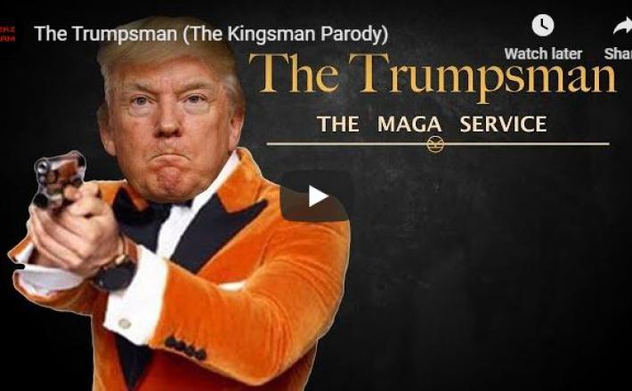 Trumpsman - lažen posnetek Donalda Trumpa, kako pobija medije
