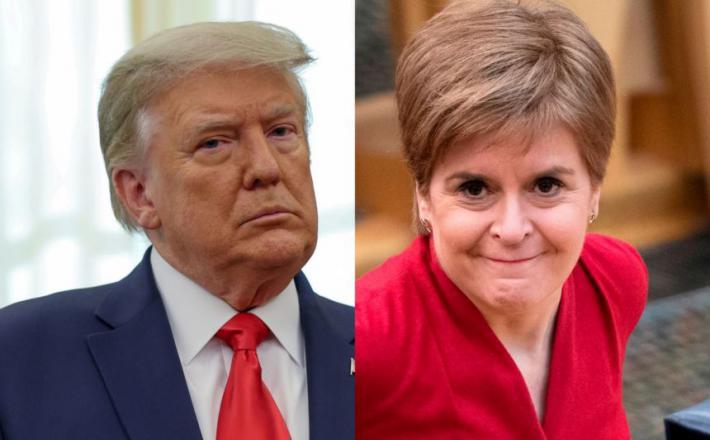 Donald Trump in Nicole Sturgeon. Vir: Twitter