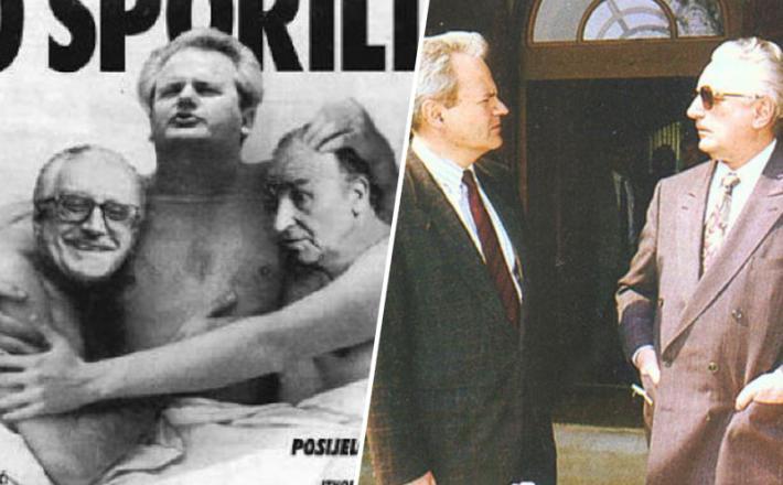 Slobodan Milošević in Franjo Tuđman