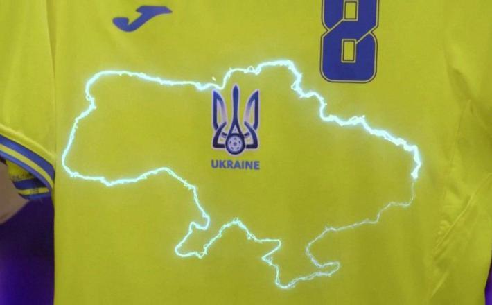 Ukrajinske nogometne majice za Euro 2020  Vir: BBC, Twitter