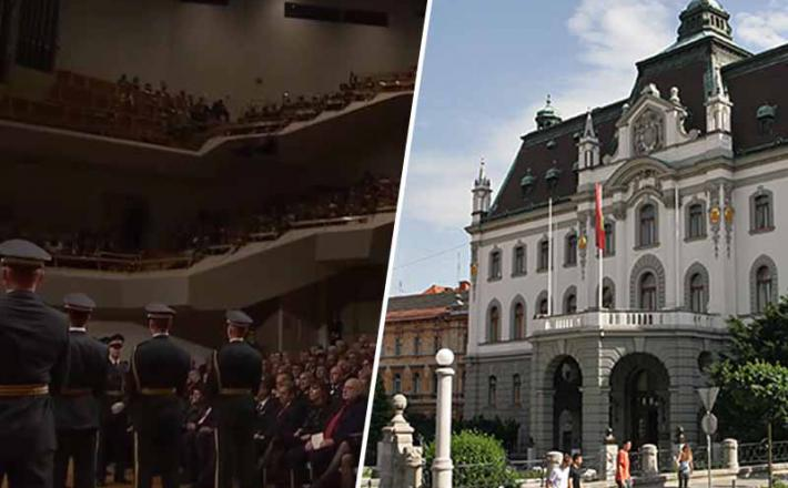 Vojska na proslavi Univerze v Ljubljani