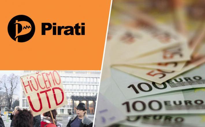 UTD - Univerzalni temeljni dohodek, idejo podpirajo tudi Pirati Slovenije