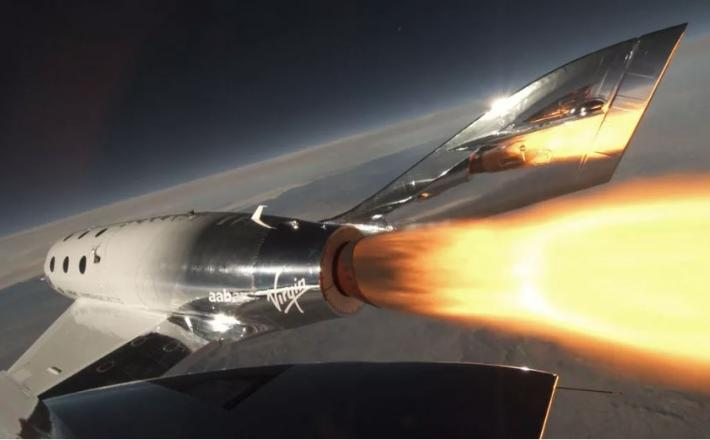 Virgin Galactic - raketoplan  Vir:Virgin Galactic