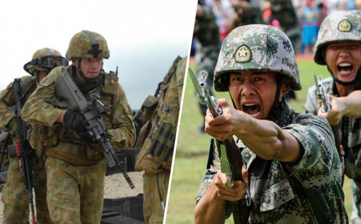 Avstralski in kitajski vojaki