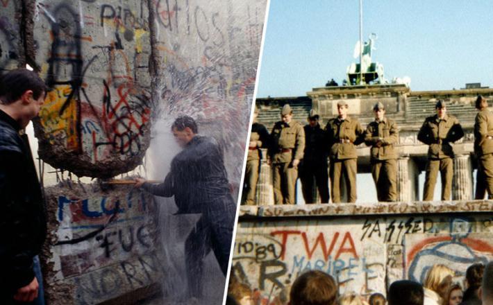 Berlinski zid in sovjetski vojaki