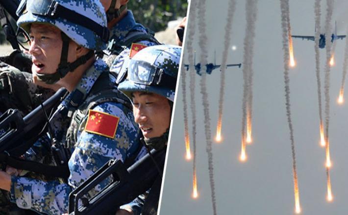 Vostok 2018 - kitajski vojaki in ruska letala