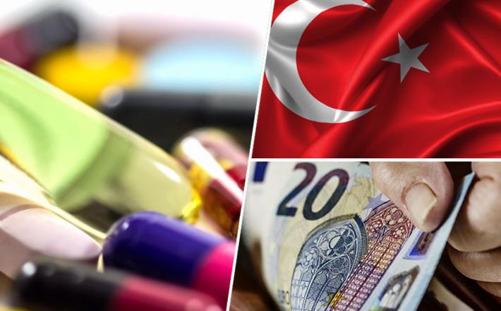 Zdravila, Turčija, denar