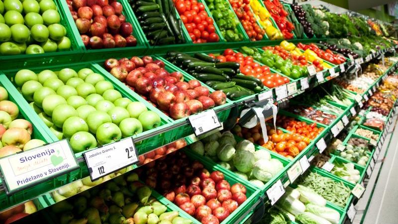 Hrana, zelenjava v trgovini