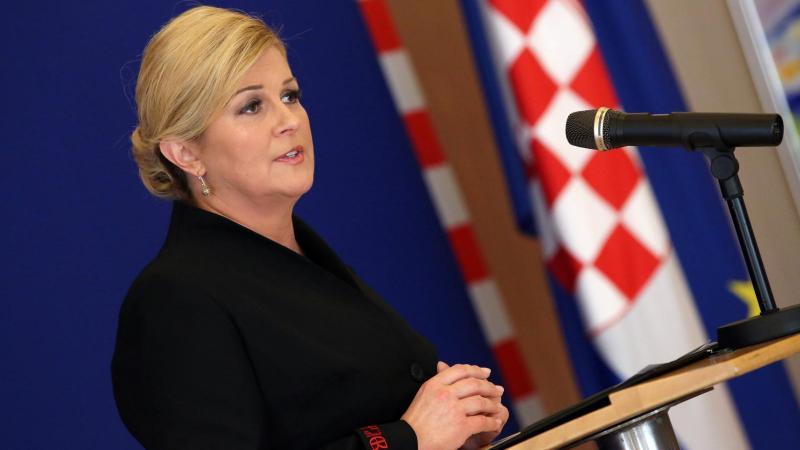 Hrvaška predsednica v Budimpešto po pojasnila glede OECD