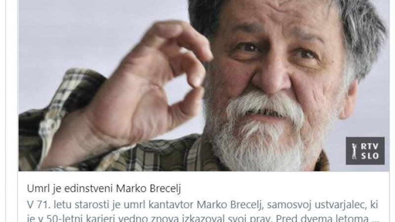 Marko Brecelj - novica RTV SLO Vir: Posnetek zaslona