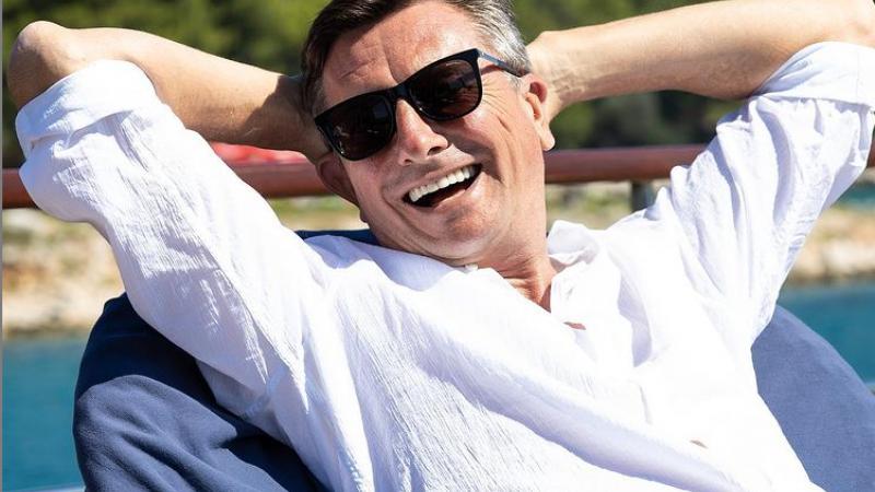 Pahor, uživač. Vir: Instagram račun PR, posnetek zaslona