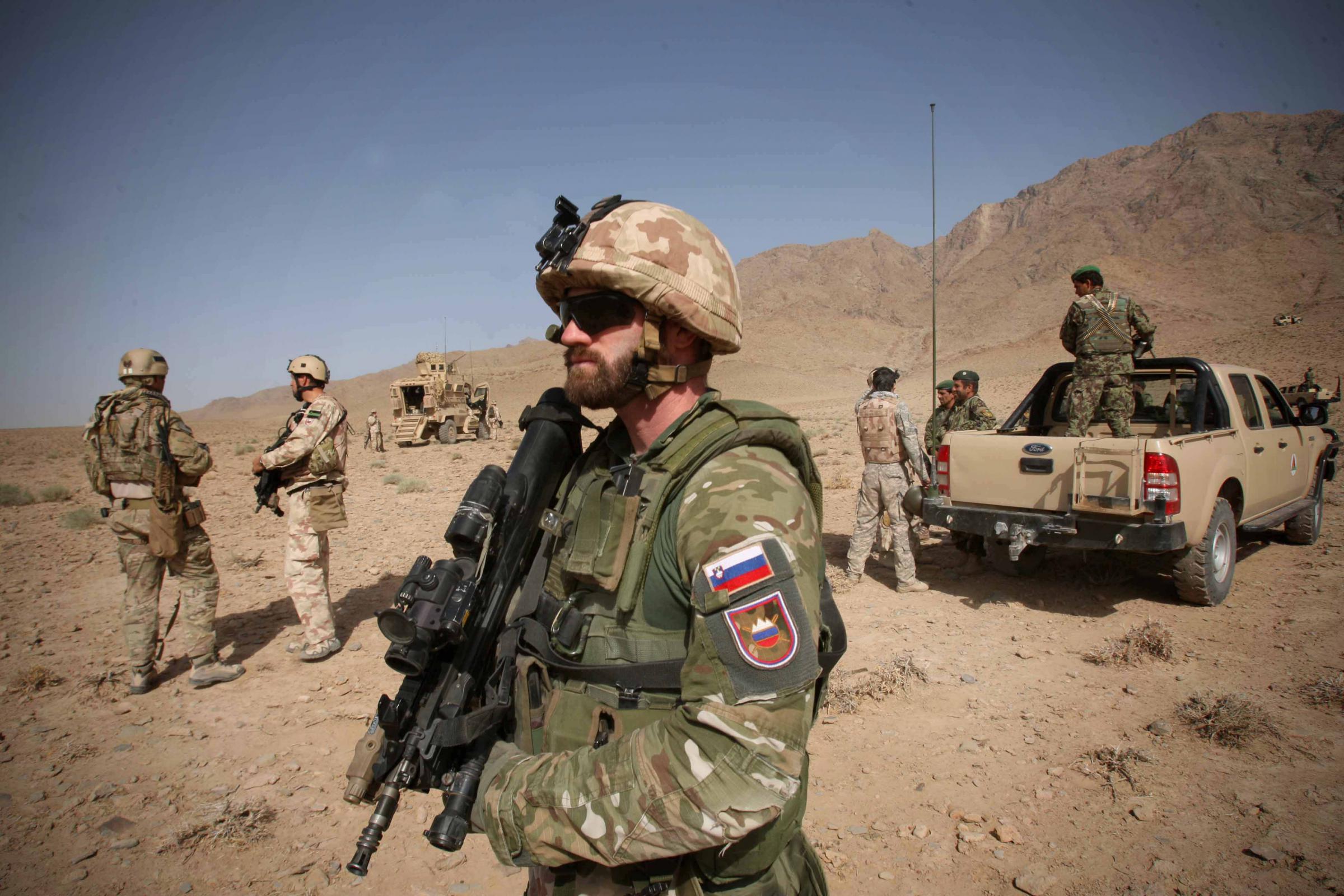 Pripadnik SV v Afganistanu  Vir:SV