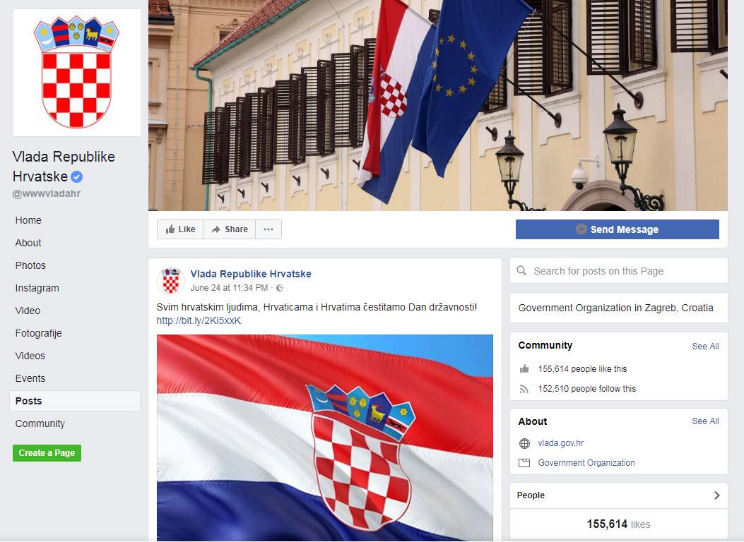 """Čestitka """"hrvaškim ljudem"""""""