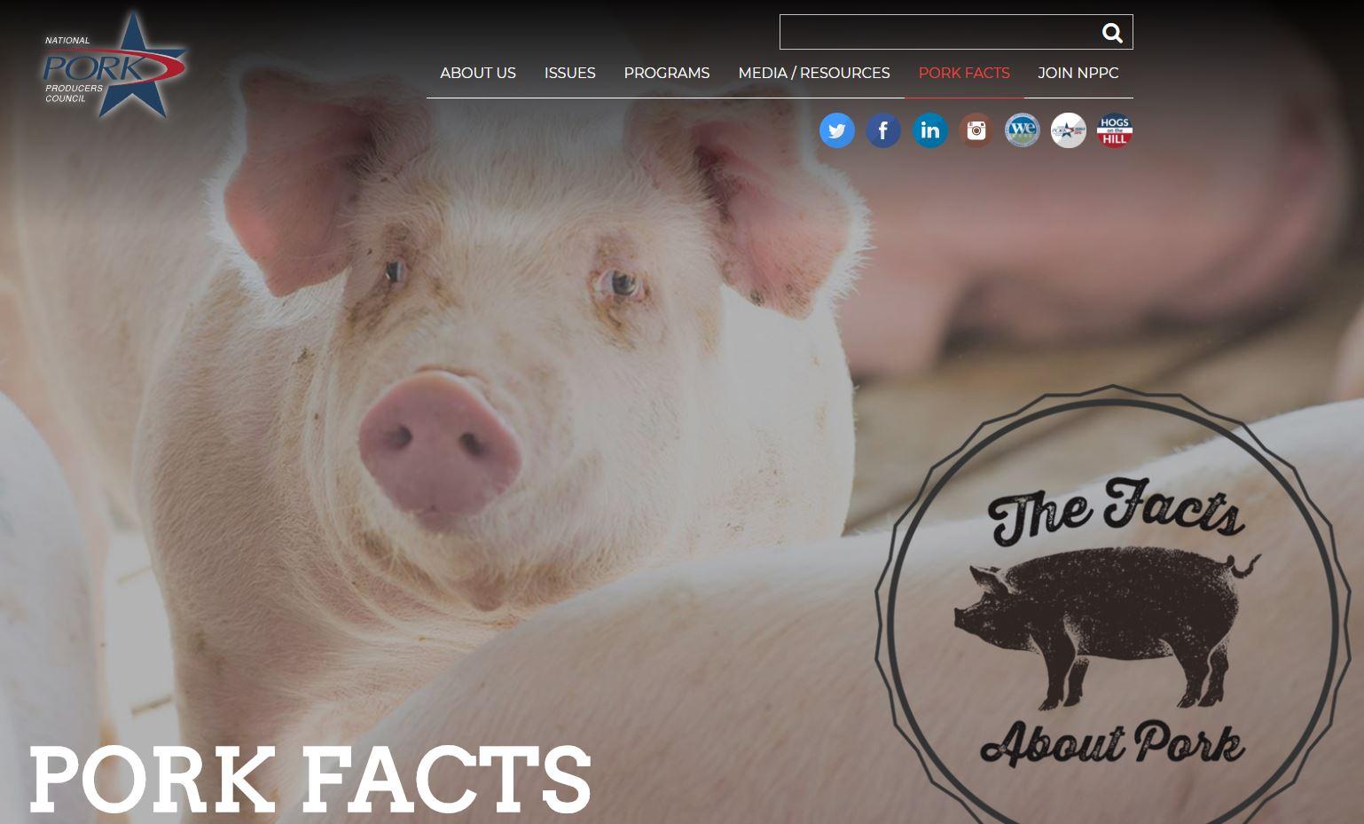 Ameriški proizvajalci svinjine - spletna stran