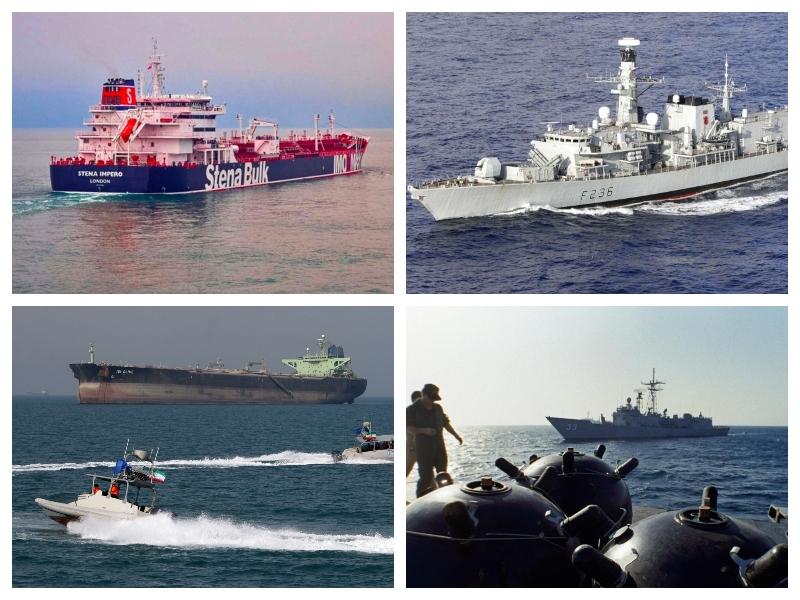 Iran, Hormuška ožina, HMS Montrose in mine