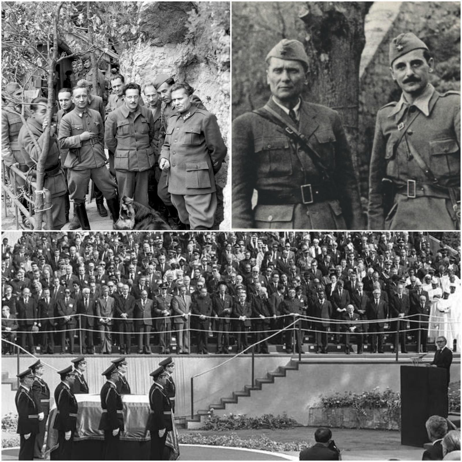 Tito v 2. svetovni vojni in njegov pogreb