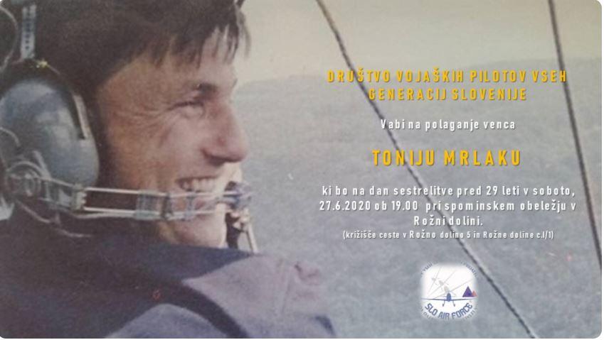 Toni Merlak - plakat s pozivom na lansko polaganje vencev
