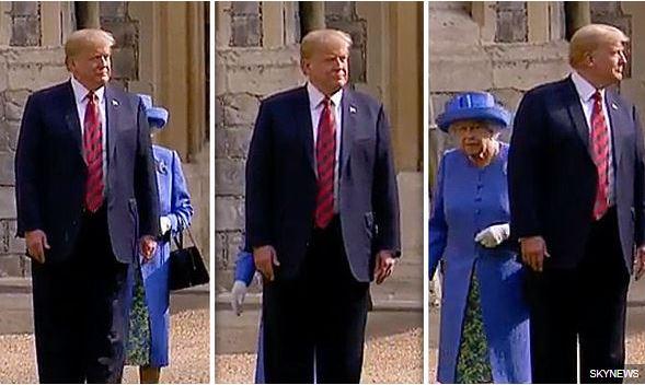 Trump - zapostavljena kraljica Elizabetha