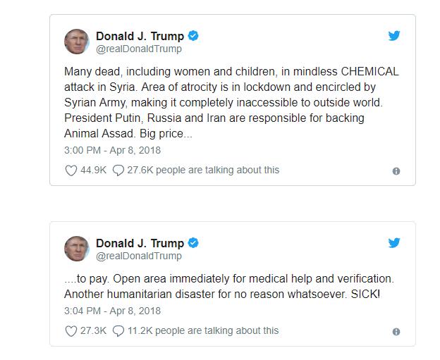 Trumpov Tvit