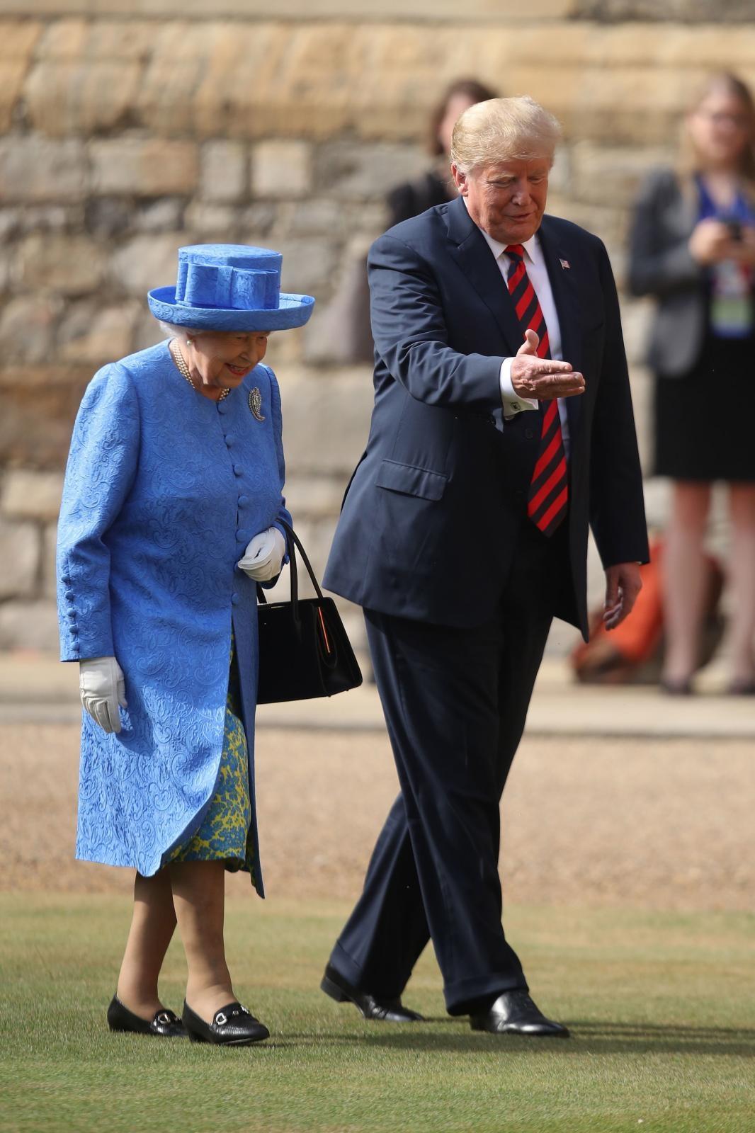 Trump pred kraljico Vir:Pixell