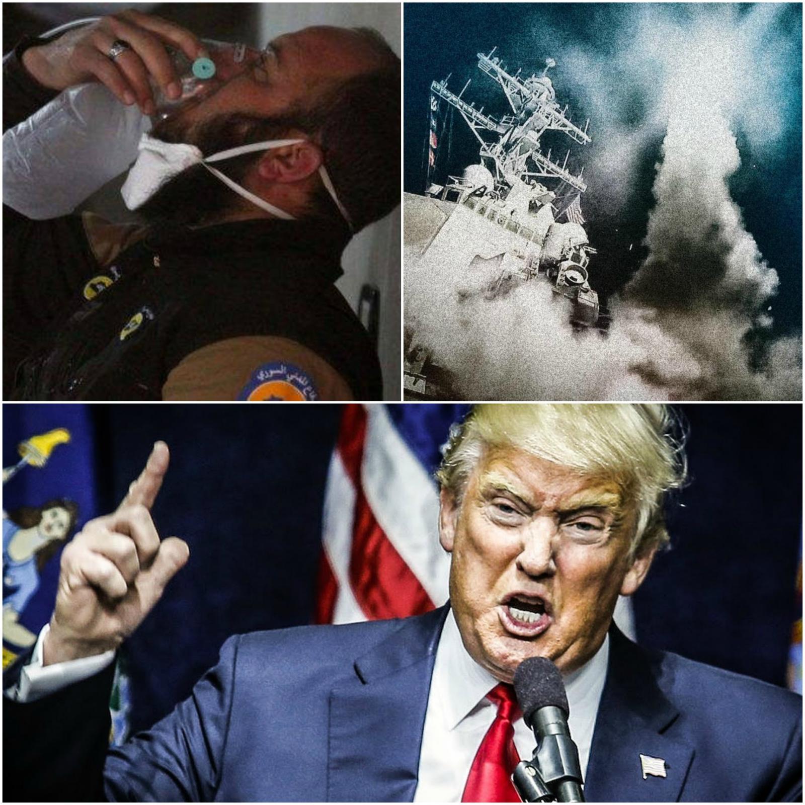 Žrtve domnevnega napada, izstrelitev Tomahawkov lani in jezni Donald Trump
