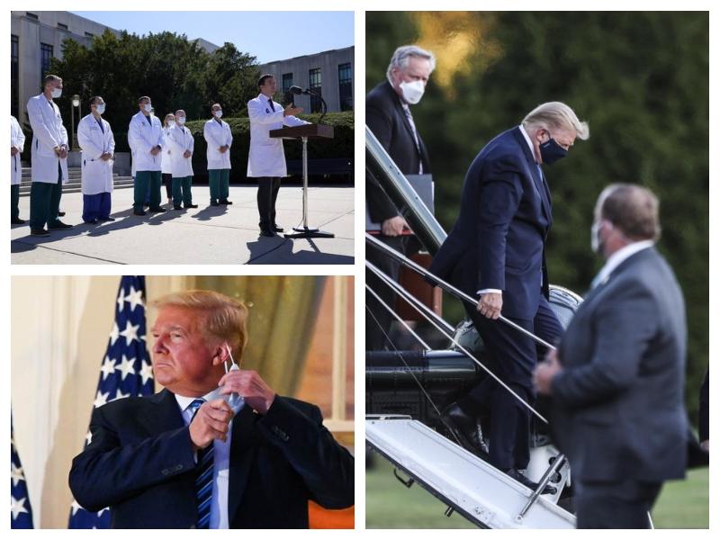 Trump ob prihodu iz bolnišnice