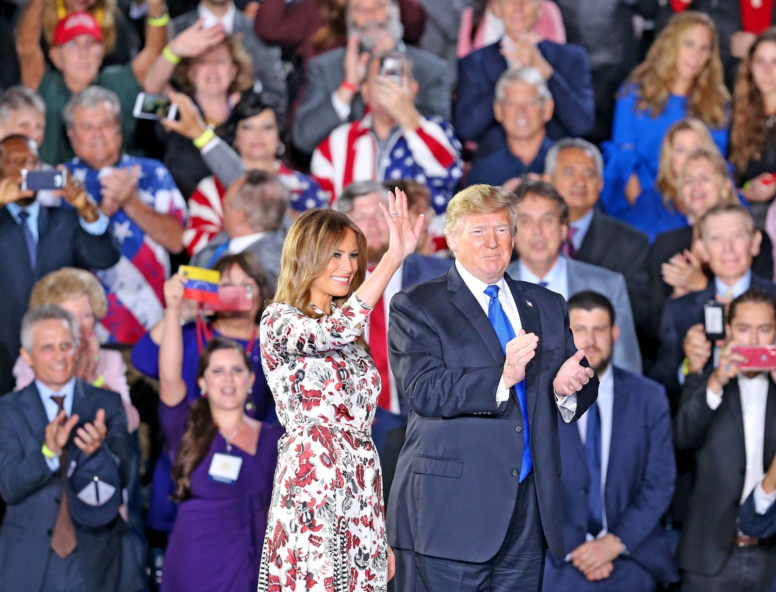 Trump in Melania, Miami Vir:Pixsell