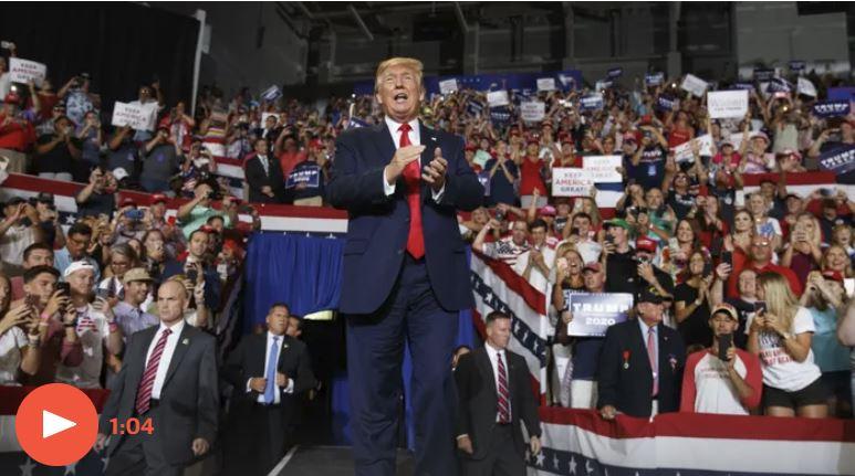 Trump na predvolilnem zboru v Severni Karolini