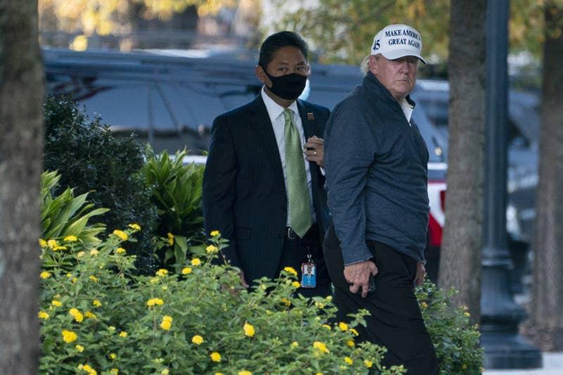 Trump po vrnitvi v Belo hišo po porazu na volitvah za predsednika ZDA Vir:Twitter