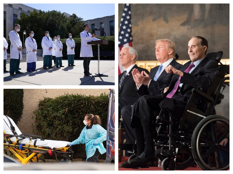 Trump in najhujša grožnja: voziček in nosila