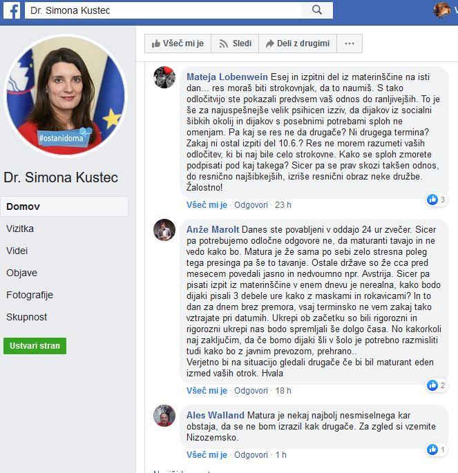Simona Kustec - tviti kontra