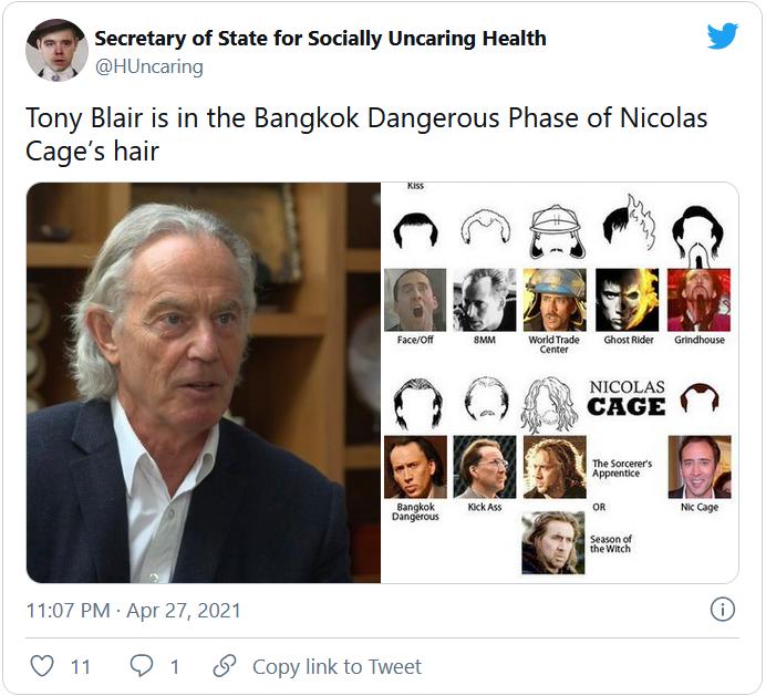Vse različice Tonyja Blairja. Vir: Twitter