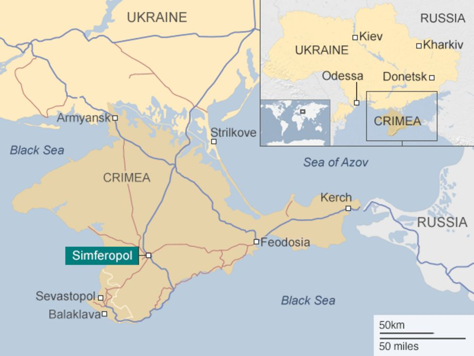 Krim in Ukrajina  Vir: BBC, Twitter