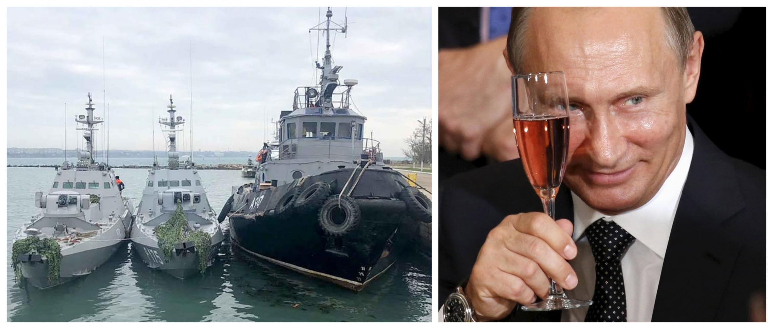 Zasežene ukrajinske bojne ladje, ruski predsednik