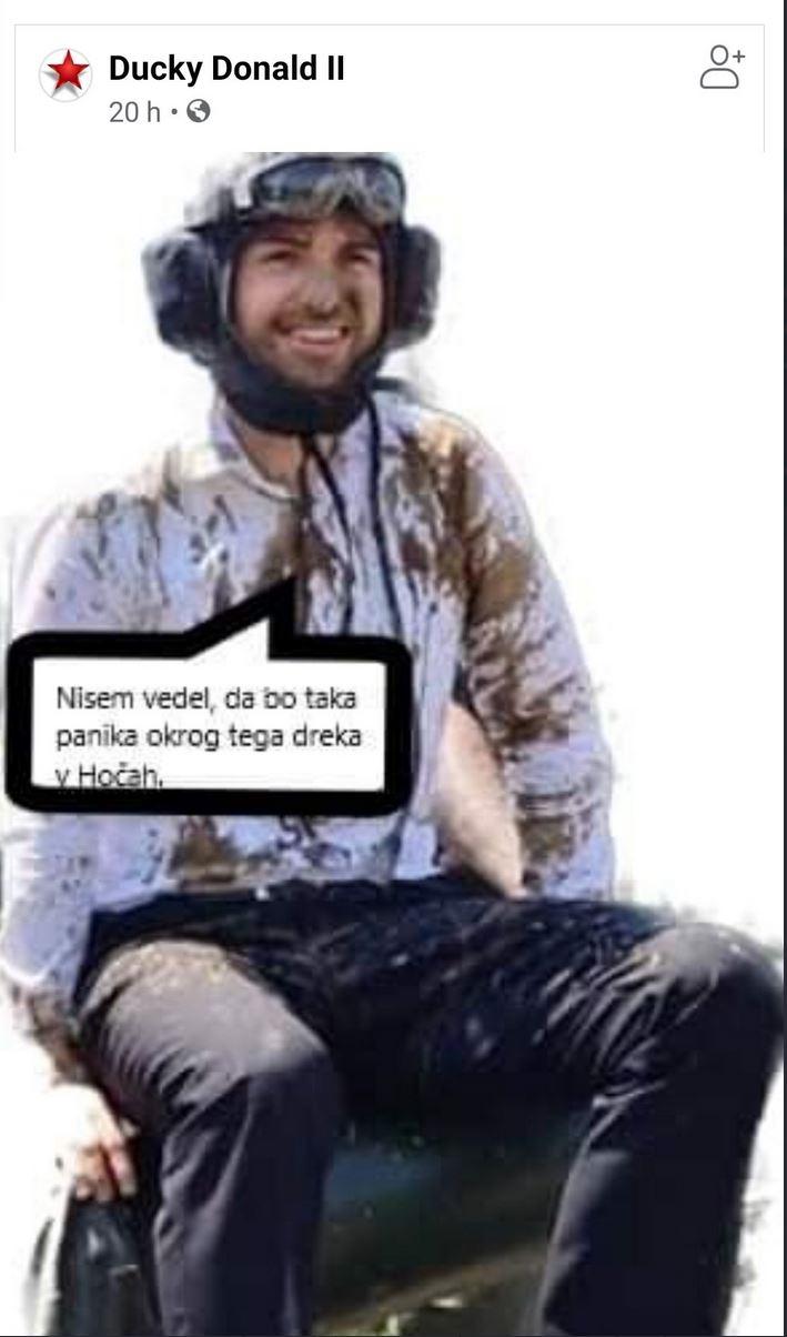 Švejkovščina: Matej Tonin na tanku. Kadar mladeniči pravočasno ne izkusijo vojske, se nekateri med njimi v zrelih letih igrajo vojačke. Vir: Twitter