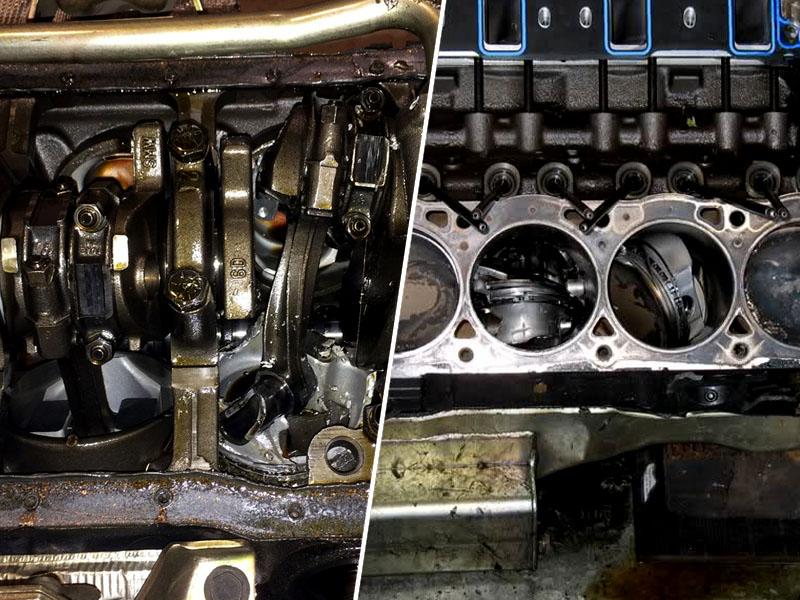 Previsoka temperatura in nezmožnost olja, da reši zadevo, pripelje do popolnega uničenja motorja.