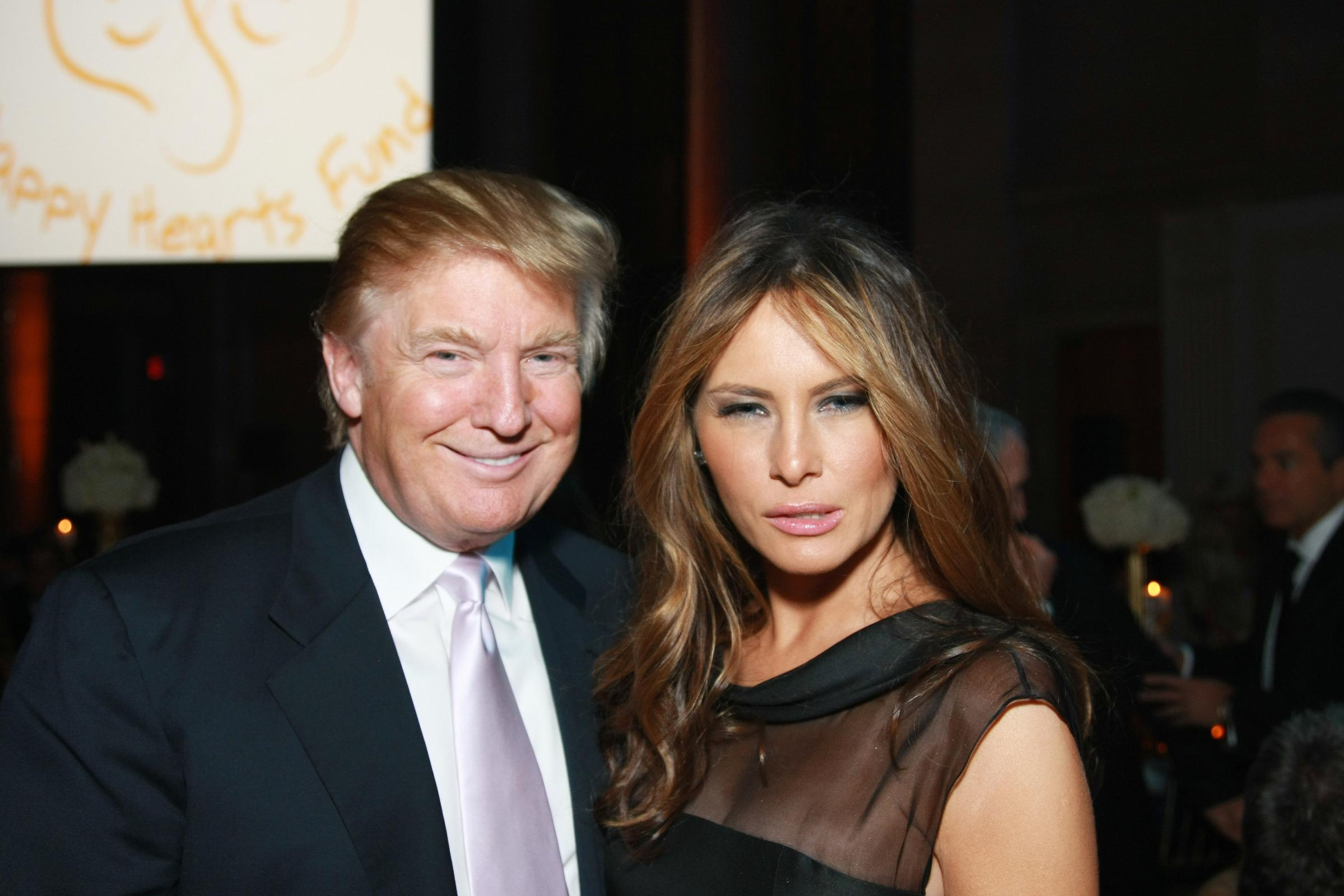 Donald Trump in Melania Trump