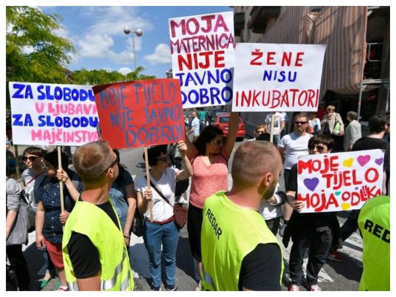 Zagreb, protesti, pravica do splava Vir: Jutarnji List