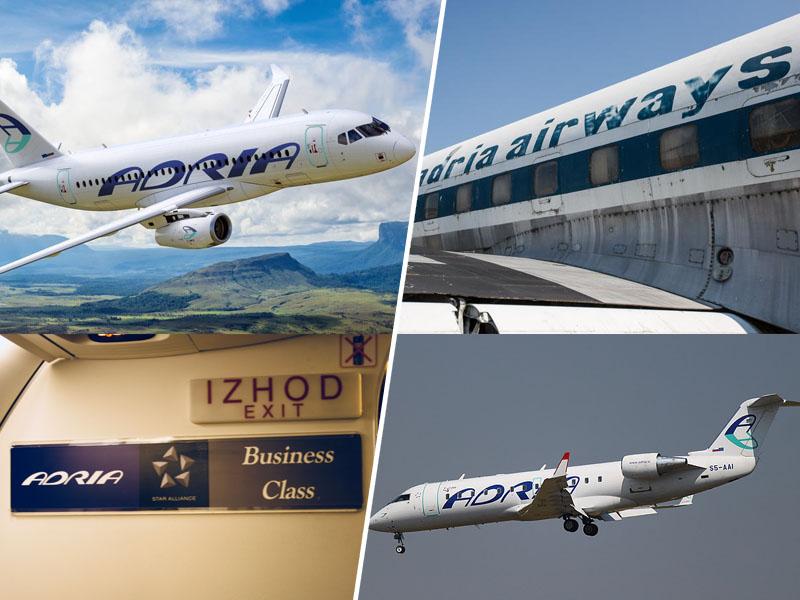 Adria Airways, ponudba, zgodovina in težave