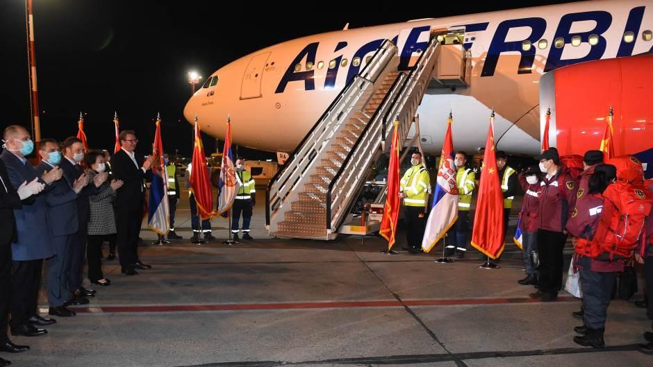 Air Serbia - pomoč Kitajske