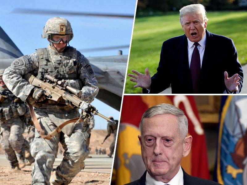 Ameriški vojaki, Donald Trump in Jim Mattis