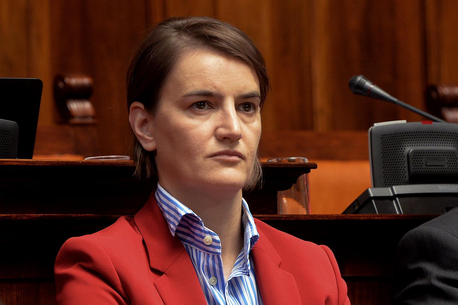 Ana Brnabić, srbska premierka. FOTO: STA foto