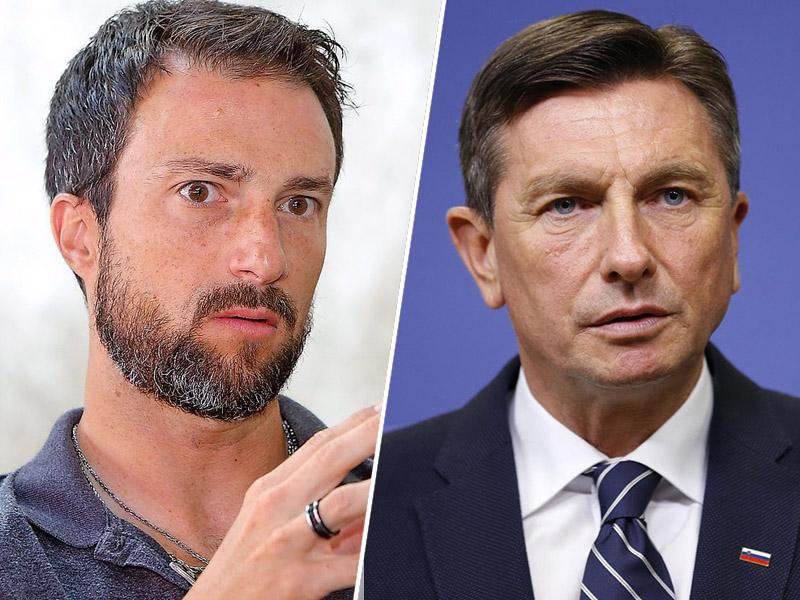 Andraž Teršek in Borut Pahor