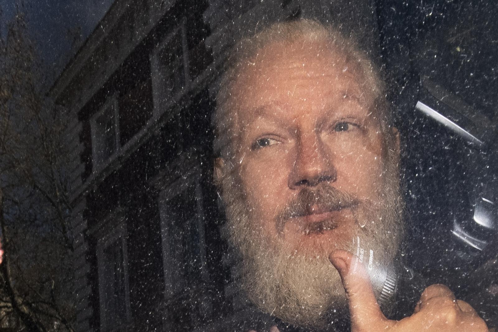 Julian Assange, aretacija Vir: Pixsell