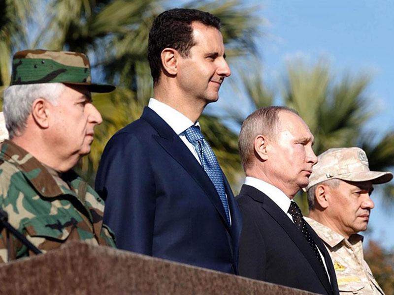 Bashar al-Assad in Vladimir Putin