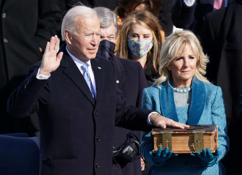 Joe Biden - prisega  Vir:Twitter