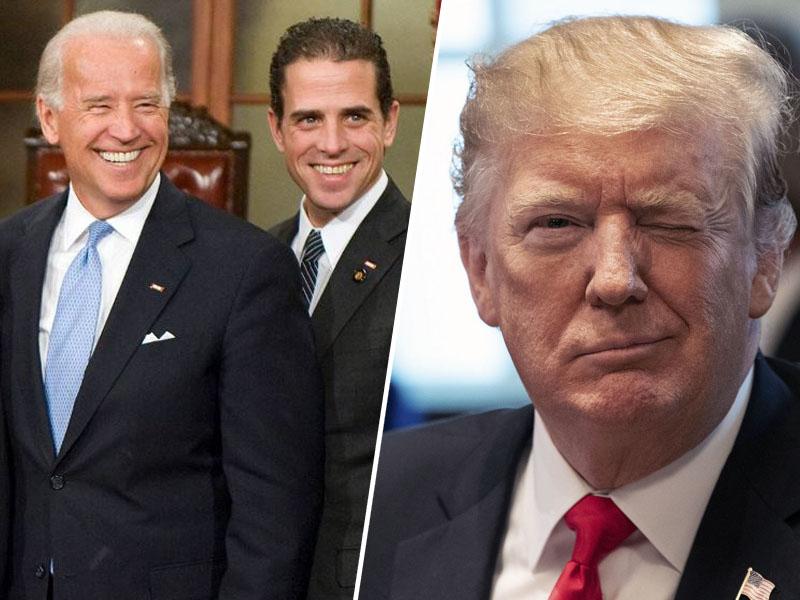 Joe in Hunter Biden ter Donald Trump