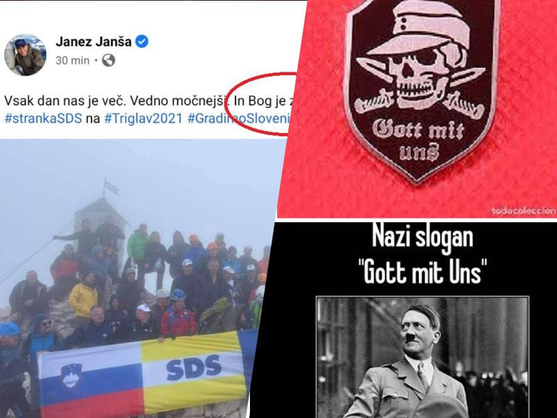 Janša in SDS - nekoč na Titovi, danes na Hitlerjevi poti