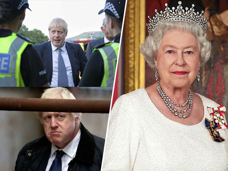 Boris Johnson mučenik in kraljica