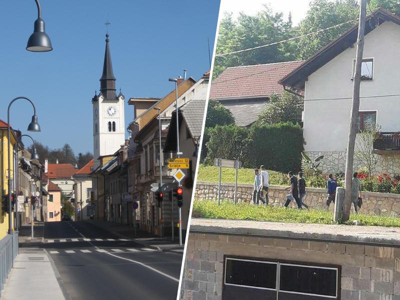 Po zapisih prebivalcev se migranti sprehajajo po okoliških krajih Črnomlja, vir: Facebook
